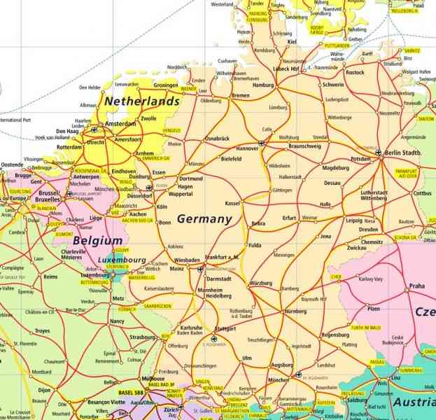 Map Germany Netherlands HolidayMapQcom - Netherlands germany map