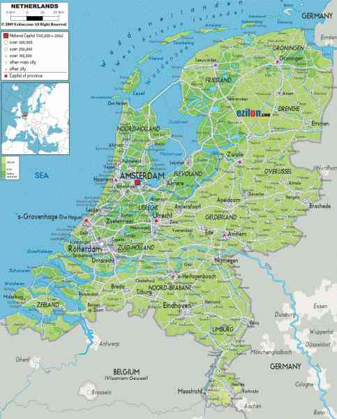 Map Of Germany Netherlands And Belgium.Map Germany Netherlands