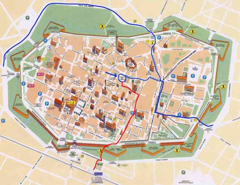 Map Italy Lucca HolidayMapQcom