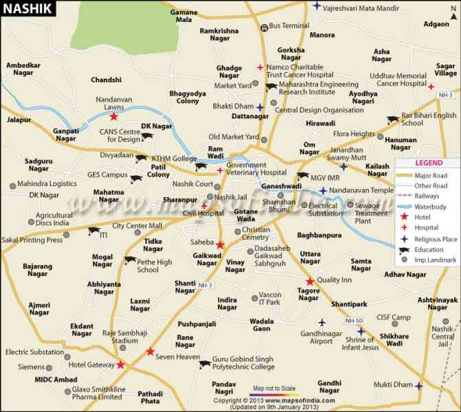 map nashik city 106 Map Nashik City