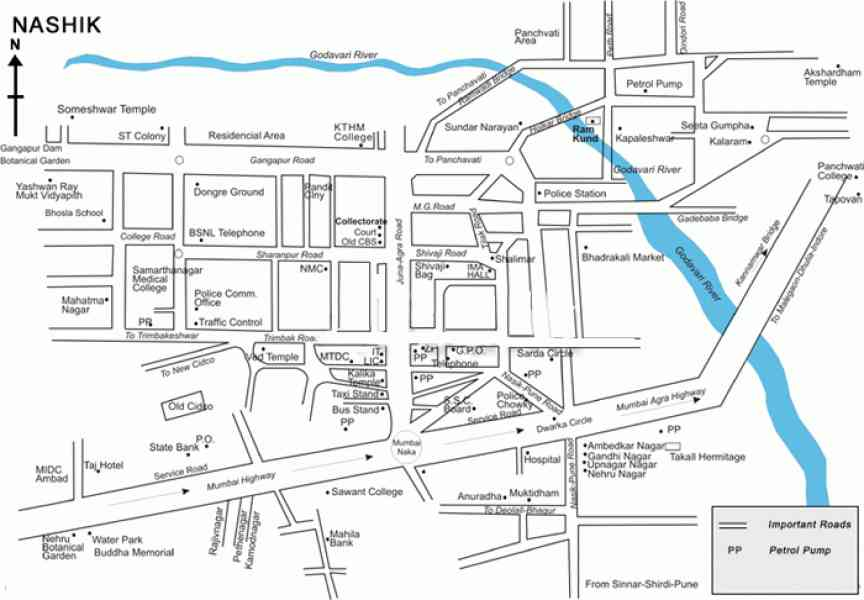 map nashik city 260 Map Nashik City