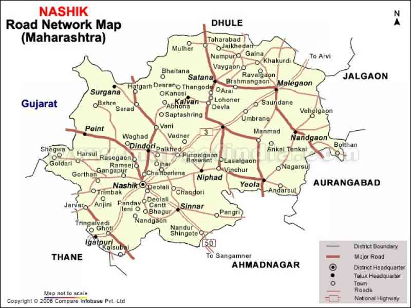 map nashik city 271 Map Nashik City