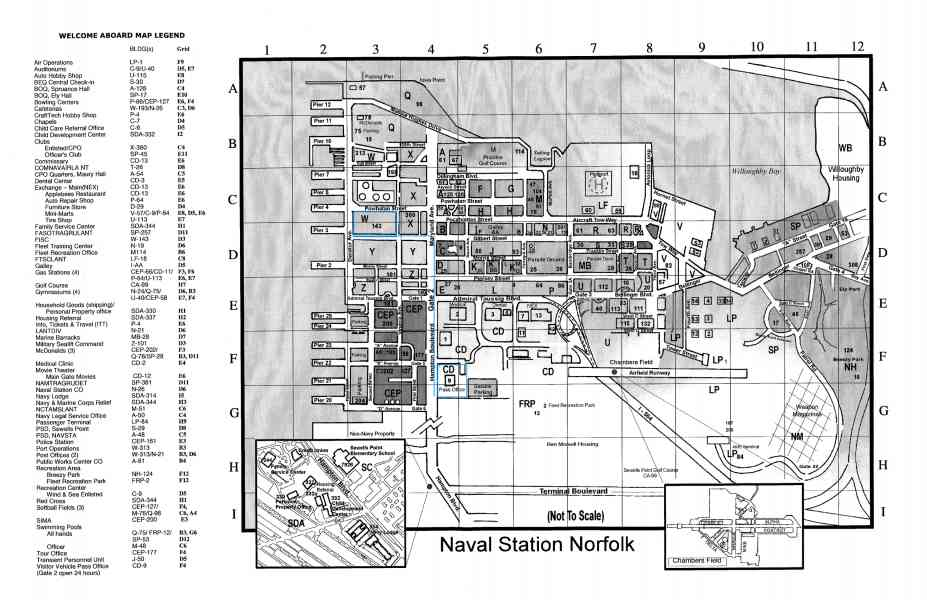 Map Naval Station Norfolk   HolidayMapQ.®