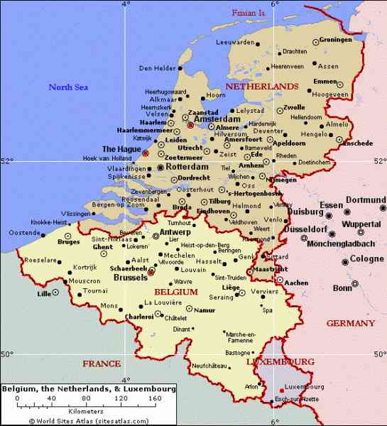 Map Netherlands Germany  Map  Holiday  Travel HolidayMapQcom