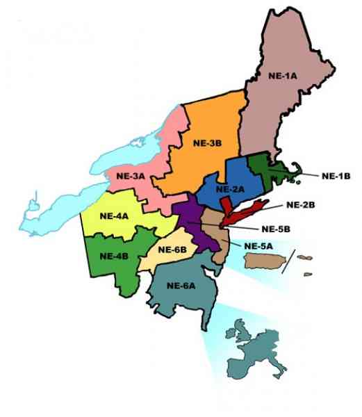 List of Synonyms and Antonyms of the Word northeast region map