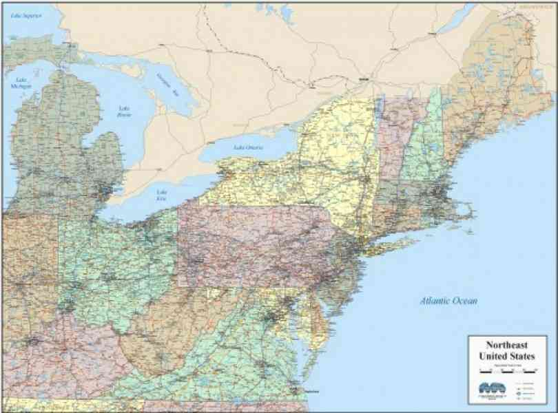Map Northeast United States Map Holiday Travel HolidayMapQcom - Northeast map us