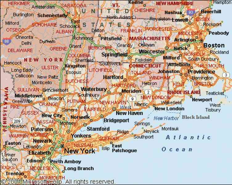 Map Northeast Us HolidayMapQcom