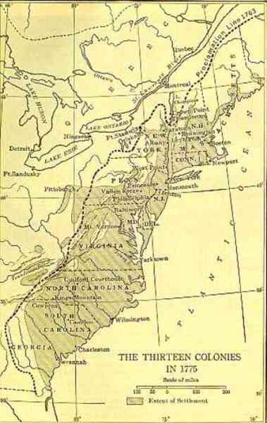 map of 13 colonies 180 Map Of 13 Colonies