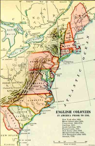map of 13 english colonies 23 Map Of 13 English Colonies