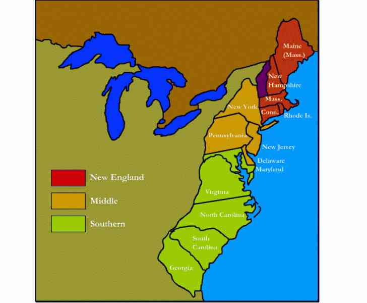 map of 13 english colonies 360 Map Of 13 English Colonies