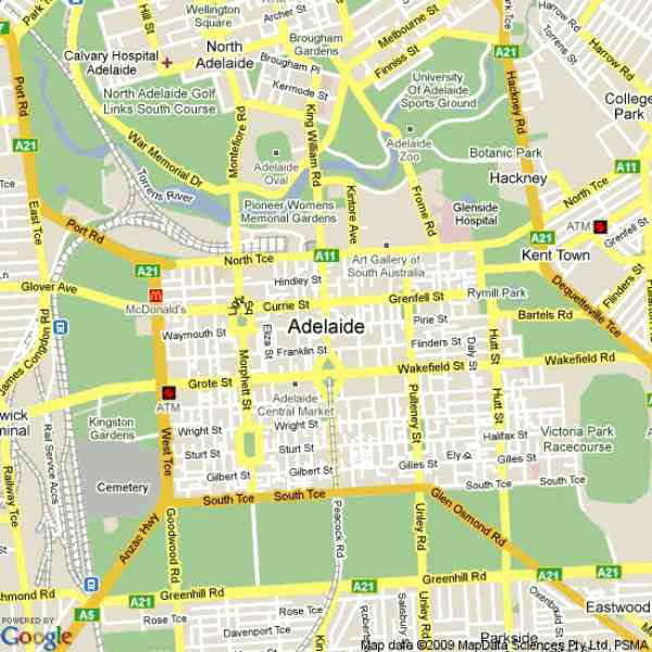 Map Of Adelaide  Map  Holiday  Travel HolidayMapQcom