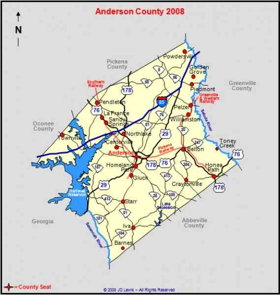 map of anderson sc map holiday travel holidaymapq