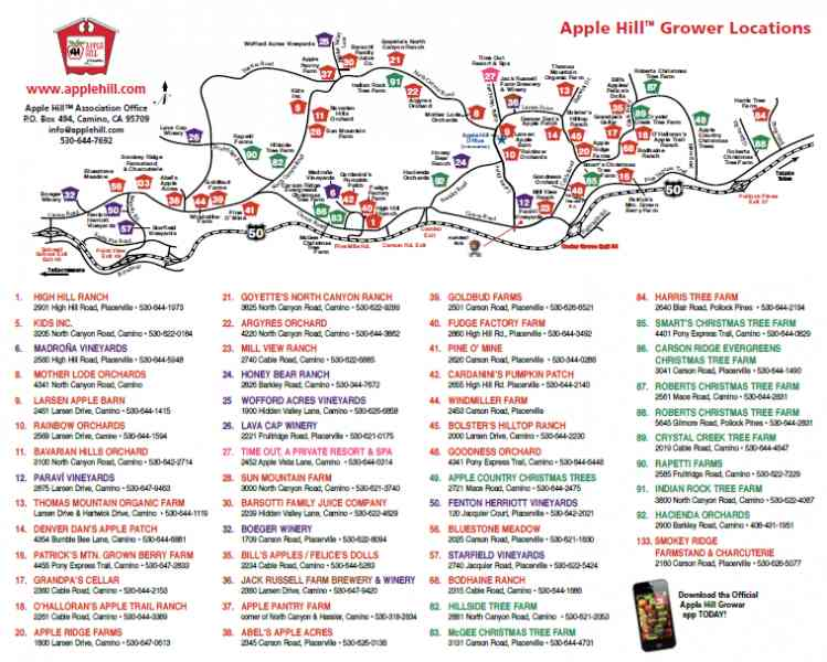 Map Of Apple Hill 148 Map Of Apple Hill