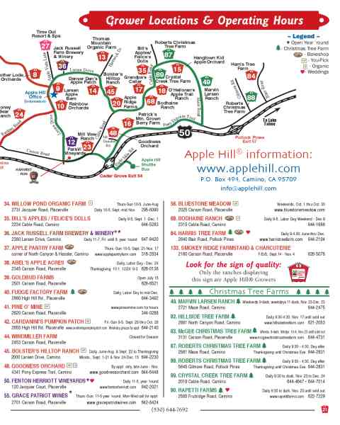 Map Of Apple Hill 260 Map Of Apple Hill