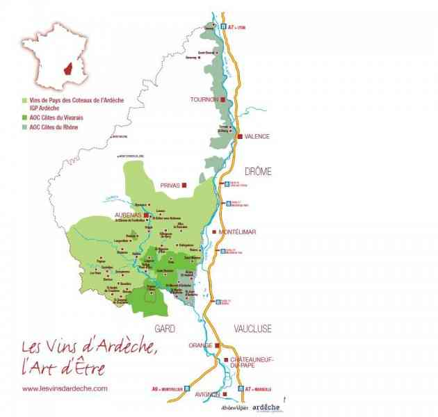 map of ardeche 2 Map Of Ardeche