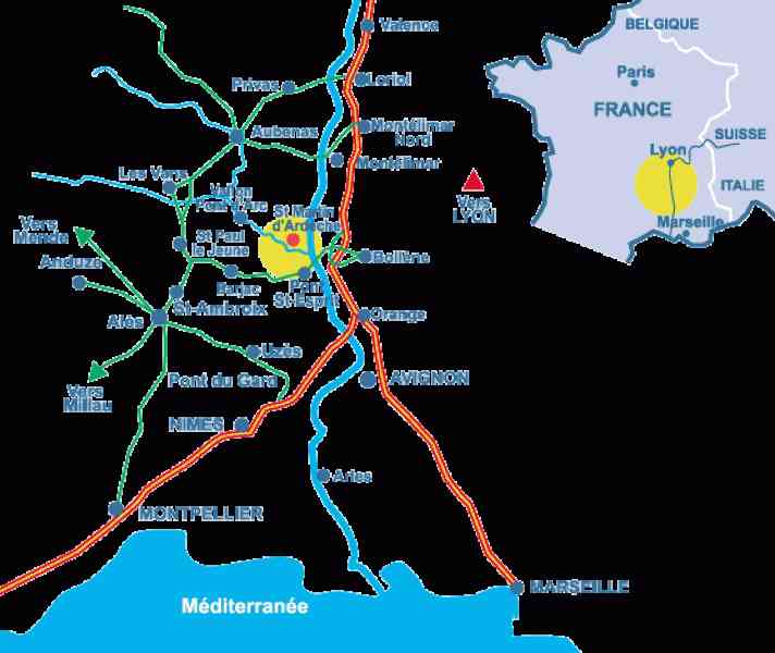 map of ardeche 143 Map Of Ardeche
