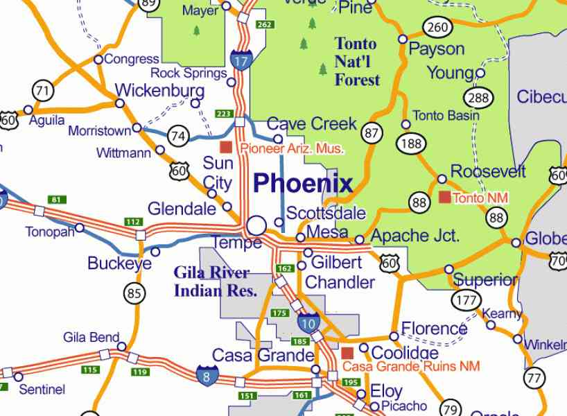 Map Of Arizona Cities Map Holiday Travel HolidayMapQcom - Road map of arizona