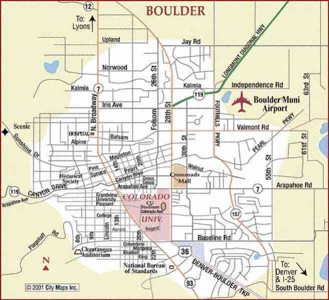 Map Of Boulder City  Map  Holiday  Travel HolidayMapQ