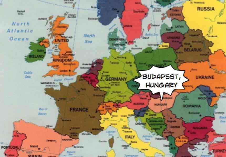 Where Is Budapest On The World Map