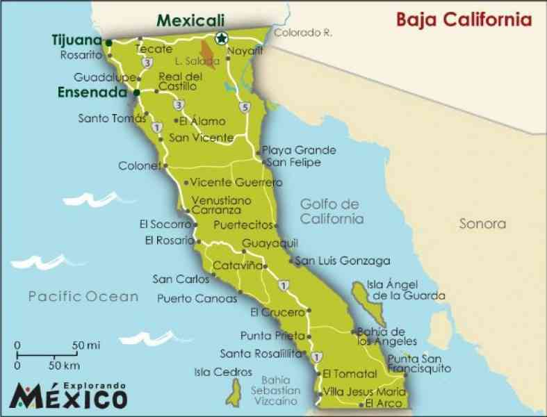 map of california baja 3 Map Of California Baja