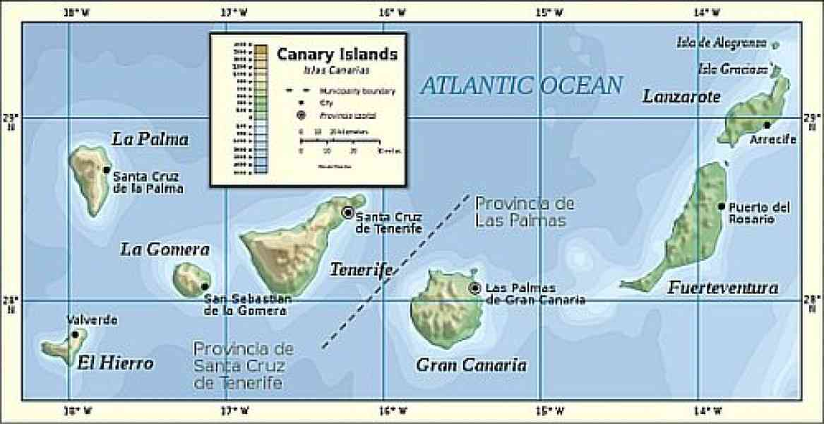 map of canary island 195 Map Of Canary Island