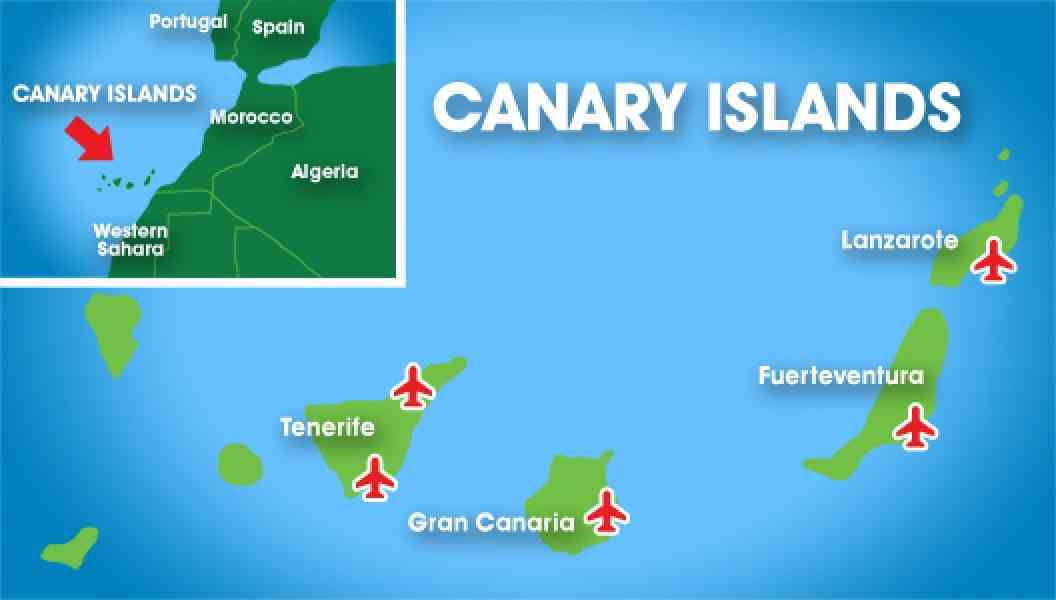 map of canary island 492 Map Of Canary Island