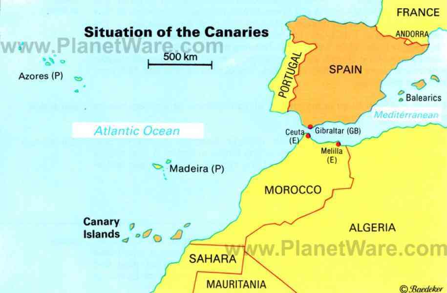 map of canary island 239 Map Of Canary Island
