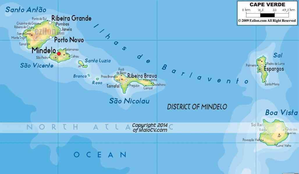 map of cape verde island 9 Map Of Cape Verde Island