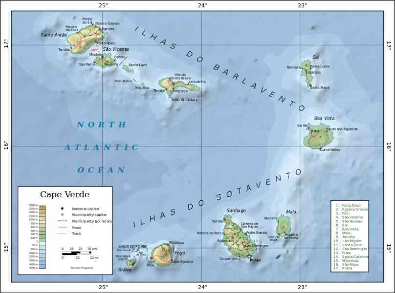map of cape verde island 31 Map Of Cape Verde Island