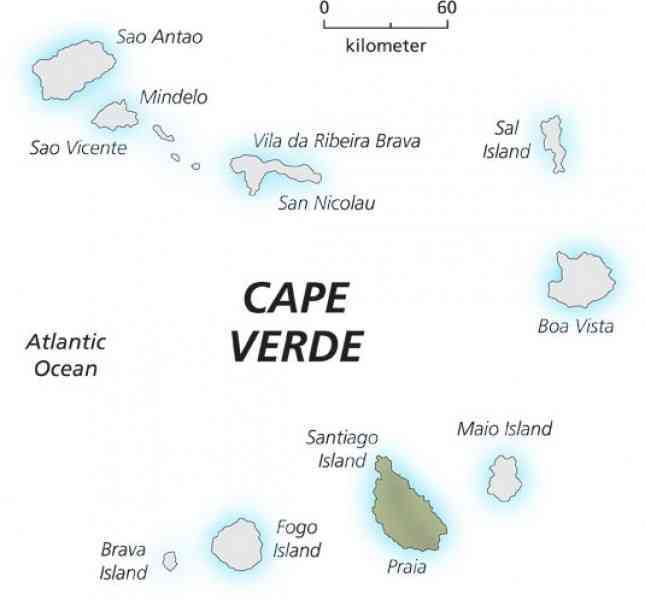 map of cape verde island 191 Map Of Cape Verde Island
