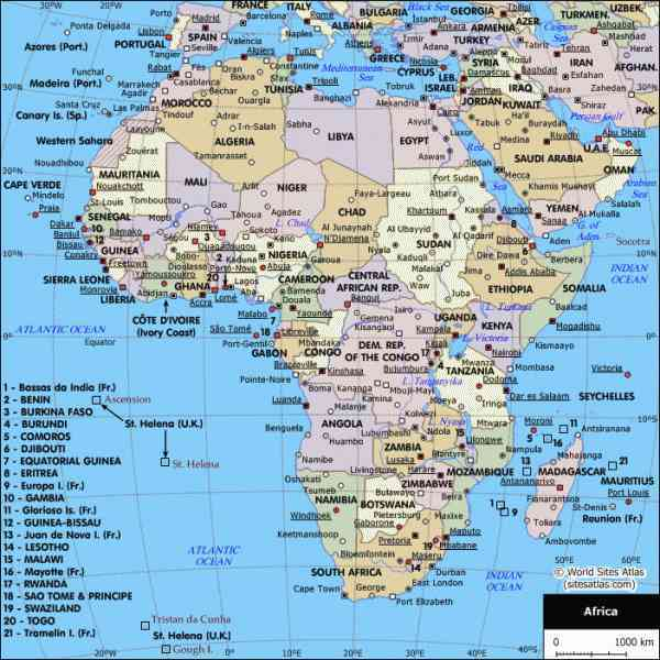 map of cities in africa 9 Map Of Cities In Africa