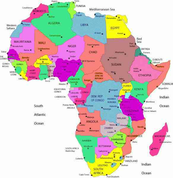 map of cities in africa 97 Map Of Cities In Africa