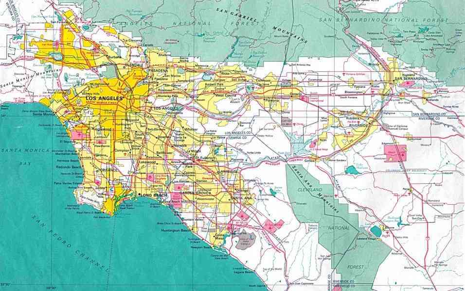 map of cities in los angeles 130 Map Of Cities In Los Angeles