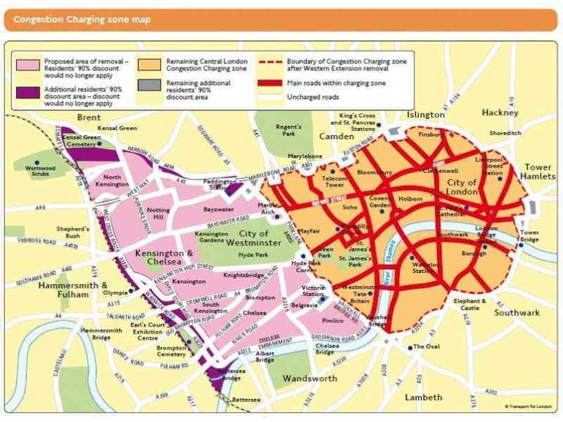 map of congestion zone in london 254 Map Of Congestion Zone In London
