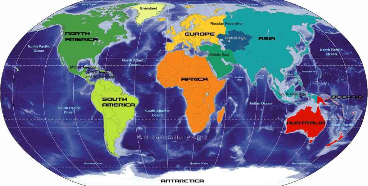 map of continents and oceans 202 Map Of Continents And Oceans
