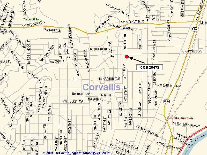 Map Of Corvallis Or HolidayMapQcom