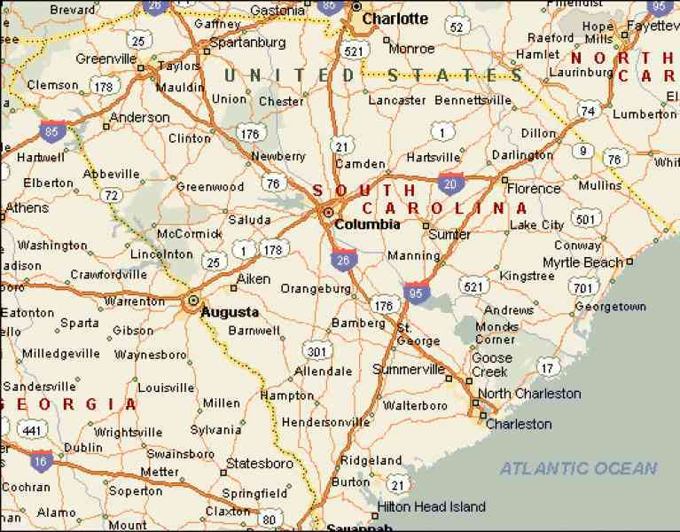 Map Of Counties In Sc Map Holiday Travel HolidayMapQcom - South carolina map with counties