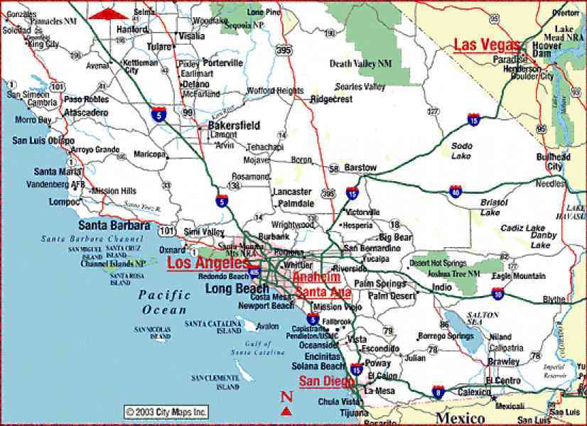 Sweet image in printable map of southern california