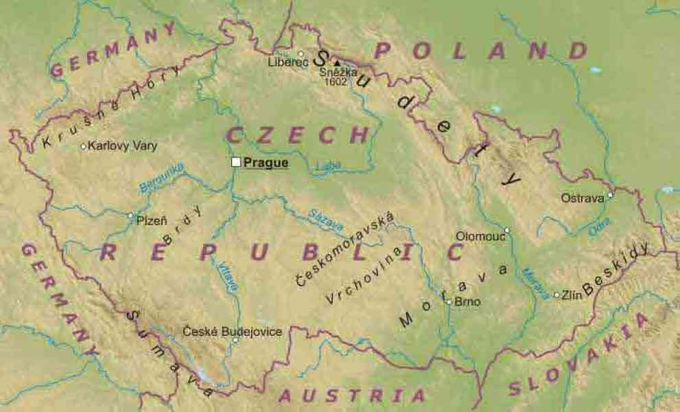 map of czech republic 583 Map Of Czech Republic