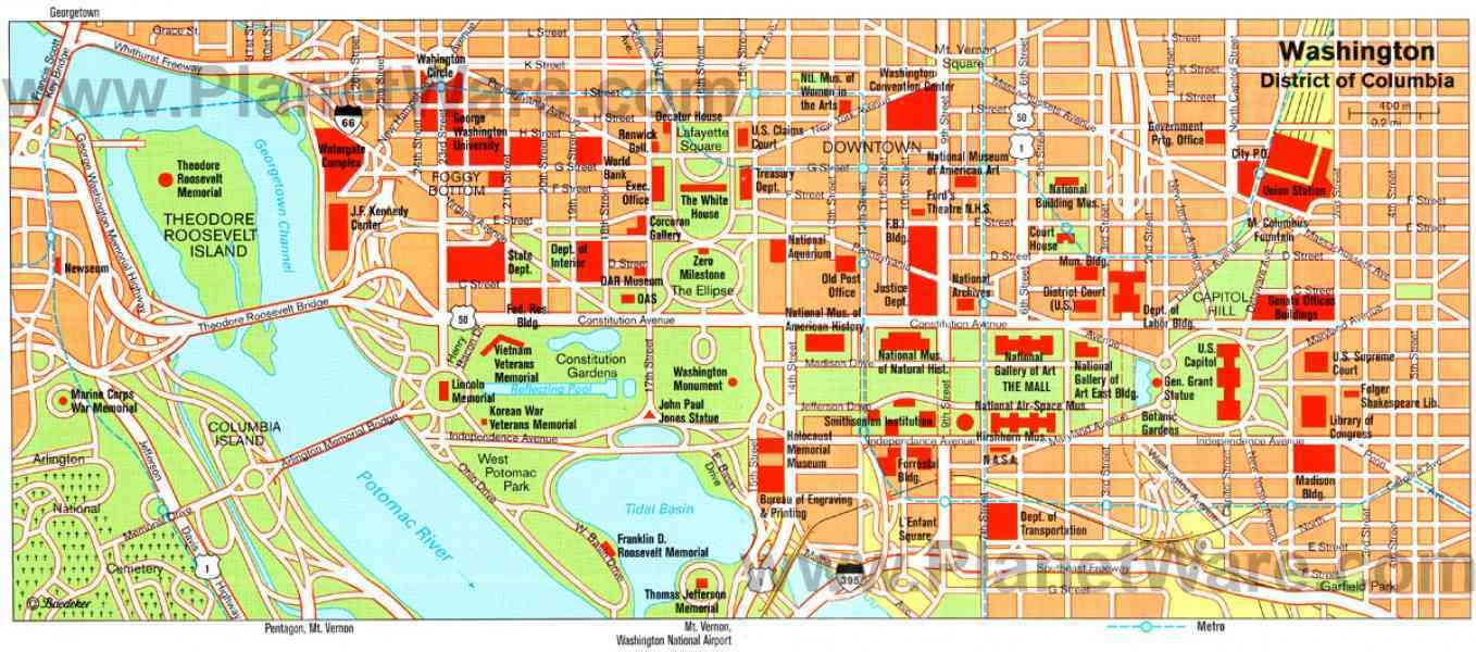 District Of Columbia Washington DC Map Hotels In Washington DC - Washington dc baltimore map