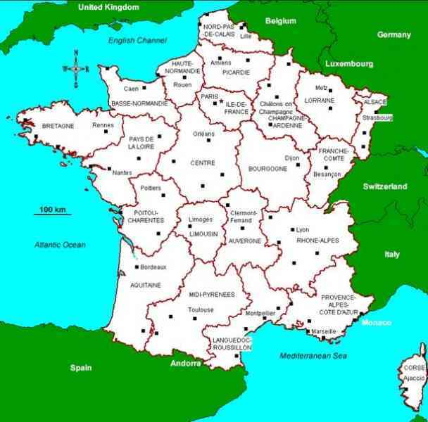 map of departments in france 8 Map Of Departments In France