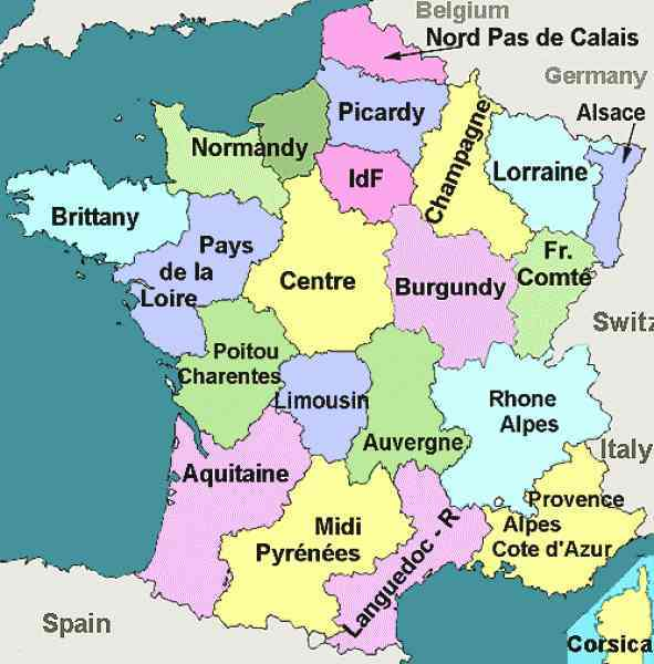 map of departments in france 179 Map Of Departments In France
