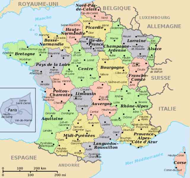 map of departments in france 132 Map Of Departments In France