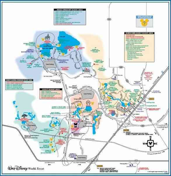 Map Of Disney World Hotels Map Holiday Travel