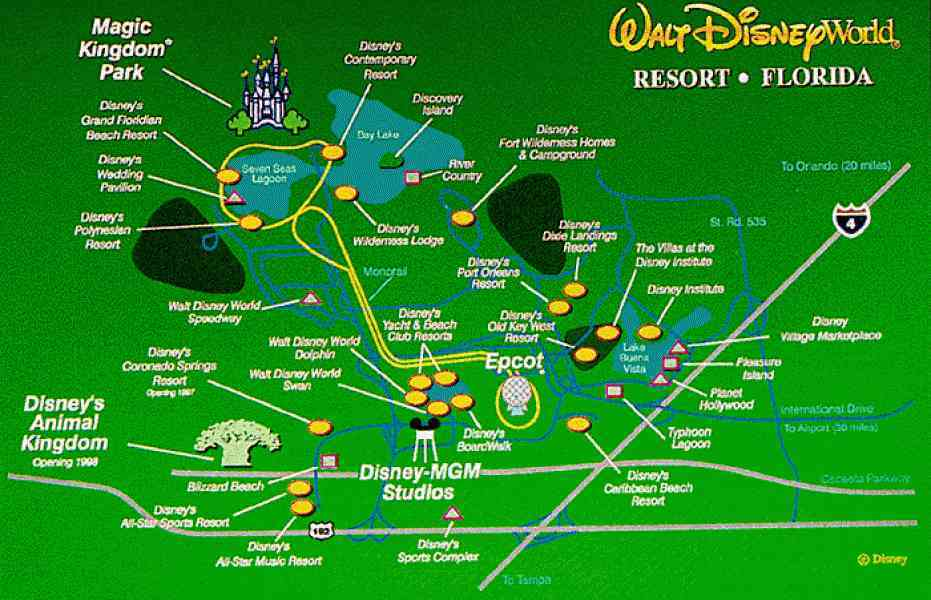 disney world florida map hotels