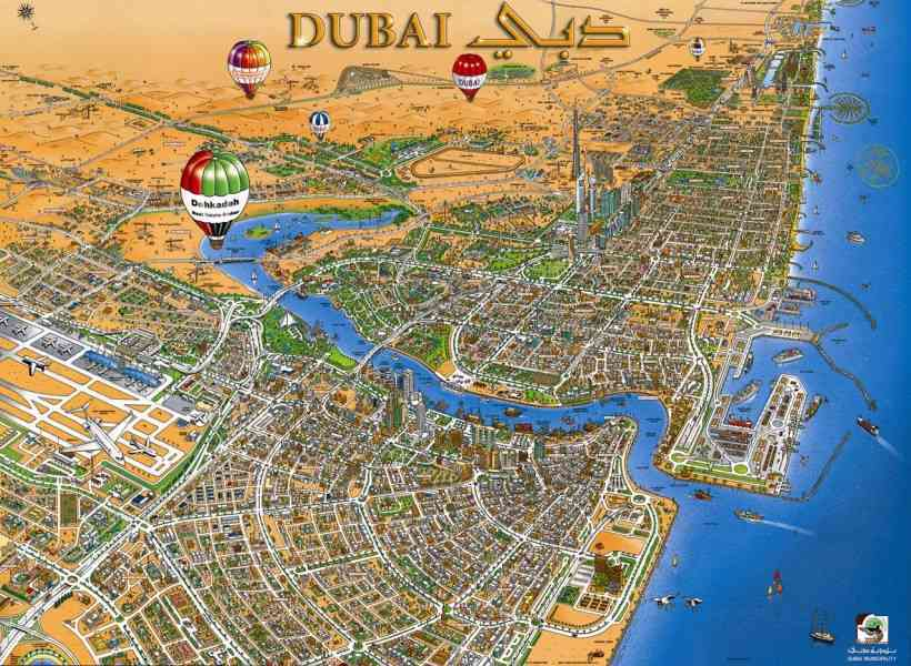 map of dubai 9 Map Of Dubai