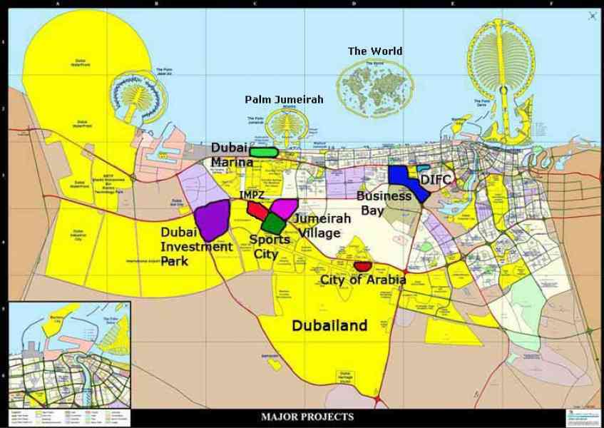 map of dubai 54 Map Of Dubai