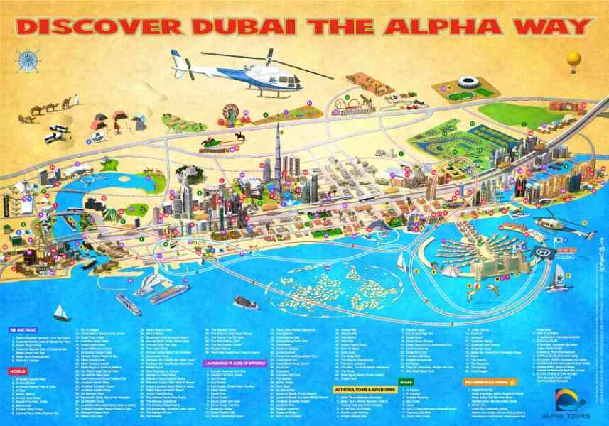 map of dubai 182 Map Of Dubai