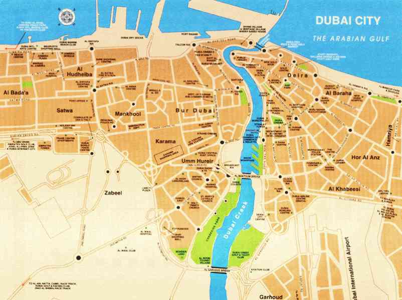 map of dubai 204 Map Of Dubai