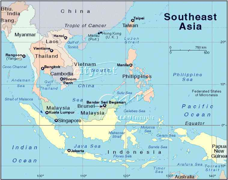 Map Of East And Southeast Asia Map Holiday Travel